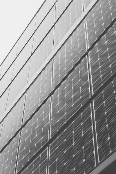 black and white solar plates