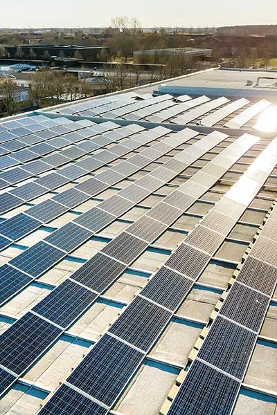 Generating power with bulk solar panels