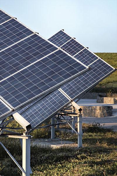Solar panel in fields